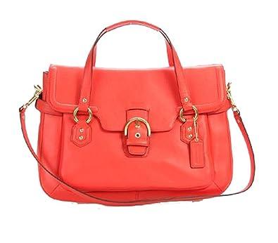 6d733d8b7 Nwt Coach Campbell Leather Eva Flap Satchel F26127 $458.00 Orange: Handbags:  Amazon.com