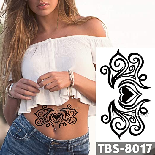 tzxdbh 12x19 cm Impermeable Tatuajes Temporales Amor Romance Flash ...