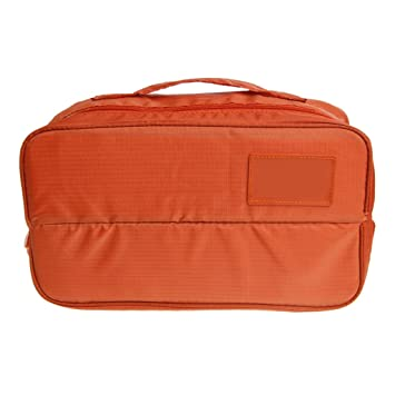 feamos viaje bolsa de almacenamiento organizador impermeable para ropa interior cosméticos uso diario (naranja)
