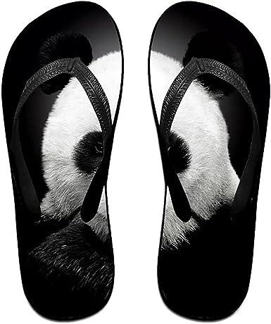 Unisex Summer Beach Slippers Best Pandas Flip-Flop Flat Home Thong Sandal Shoes