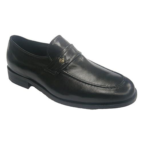 Zapato Vestir Ancho Especial Muy cómodo Clayan en Negro Talla 41: Amazon.es: Zapatos y complementos