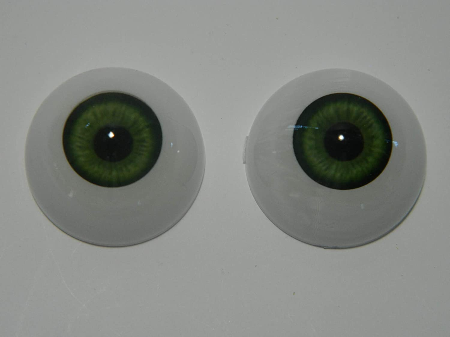 Pair of Realistic Life Size Acrylic Half Round Hollow Back Eyes for Halloween PROPS DOLLS or Bears FL02 MASKS