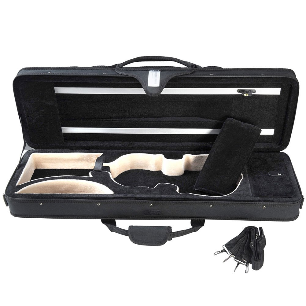 ADM Violin Case 4/4 Full Size Oblong Shape For Beginner with Carry Strap