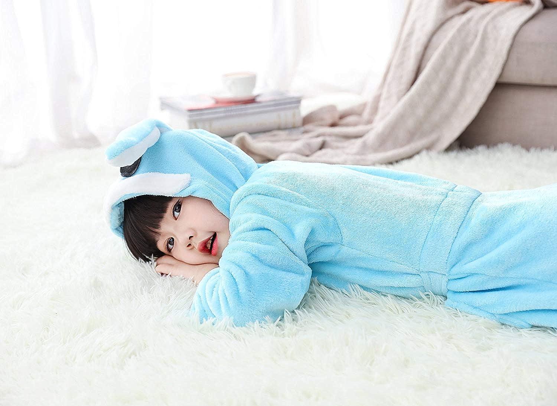Vestaglia Morbido per Bambini Comodamente Unicorno Flanella Unisex Regalo Pigiama Quattro Stagioni