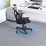 Office Chair Mats 36'' x 48'' Polycarbonate (PC) Rectangular Desk Chair Floor Mat for Carpet with Lip,Standard and Medium Pile Carpets | Transparent | Anti-Slip Thin Floor Mats for Office 36 x 48''