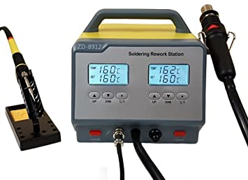 Doble soldadura 2 in1 ESD con aire caliente y Soldador: Amazon.es: Electrónica