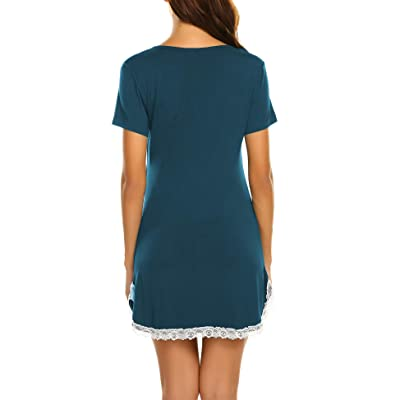 Animal Womens Girls Sleepwear Short Sleeve Pajamas Nightgown Sleep Dress FM