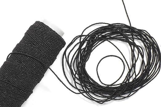 Matsa Fruncir, Hilo Tricotar Elastico, (Contine 3 Bobinas), Negro, 90 m