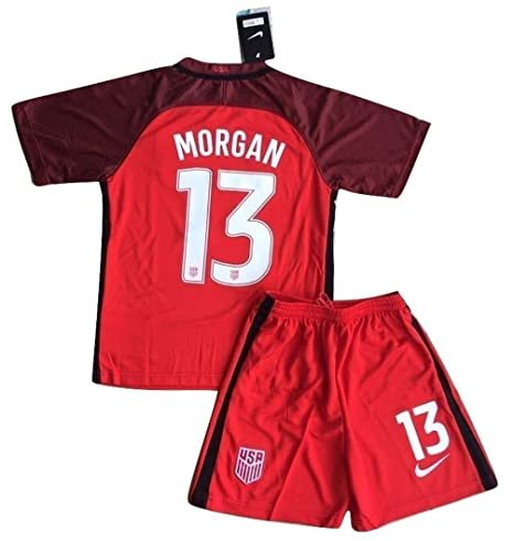 half off 416dc 416db 2017-2018 Alex Morgan #13 New USA National 3rd Jersey and Shorts for  Kids/Youth (11-13 Years Old)