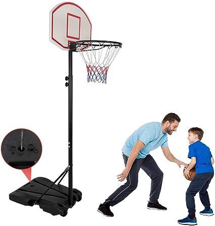 Sportcraft Adjustable Junior Freestanding Basketball Net with Backboard