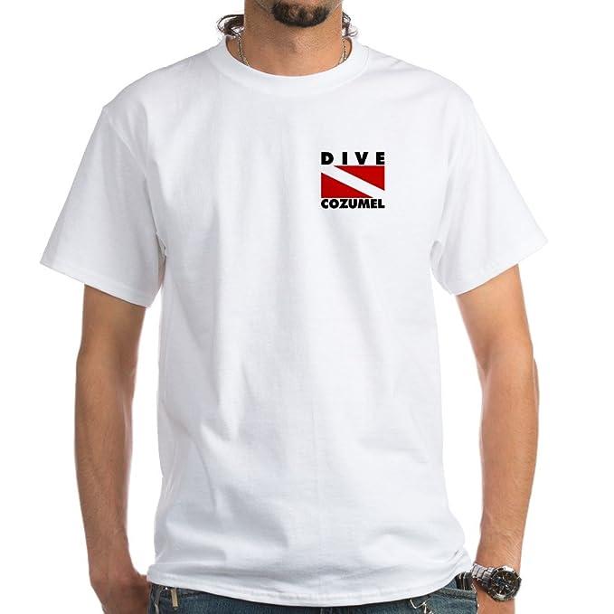cc9f60fdc CafePress Scuba Dive Cozumel White T-Shirt 100% Cotton T-Shirt, White