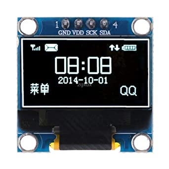 0.96 inch IIC Serial White OLED Display Module 128X64  SSD1306 LCD Screen Board,