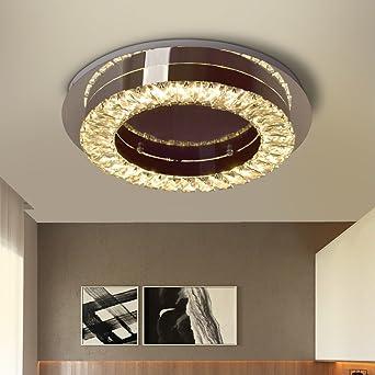 LED Kristall Deckenleuchte Deckenlampe 33W Diamant Style Deckenlampe Für Wohnzimmer  Schlafzimmer Esszimmer Warmweiß/3000K,