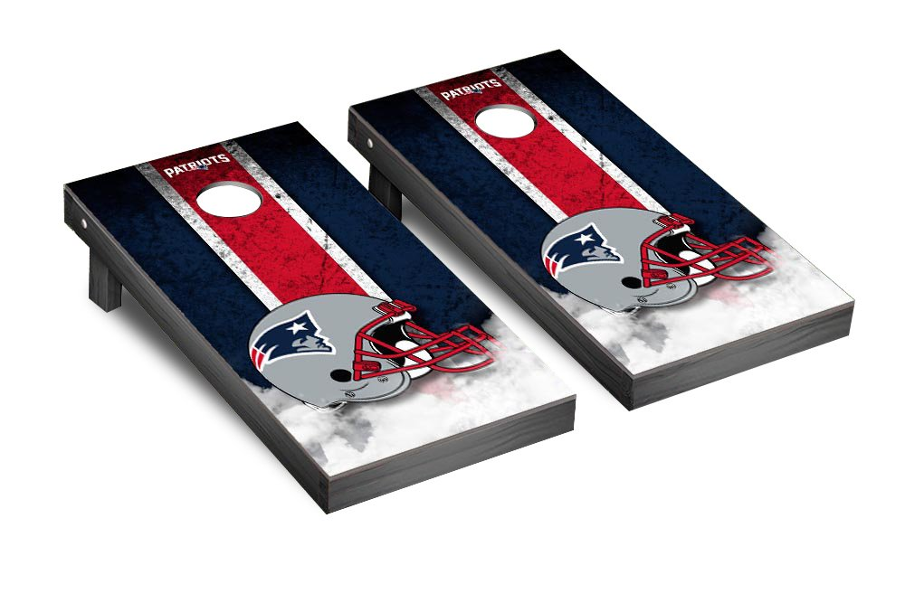 NFL New England Patriots Vintage Version Football Corn hole Game Set, One Size by Victory Tailgate (Image #1)