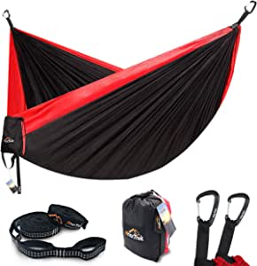 Camouflage Single /& Double/Pop-up Portable Hammocks for/Outdoor Travel AMZQJD/Anti-Rollover Large Camping Hammock/with/Mosquito/Net