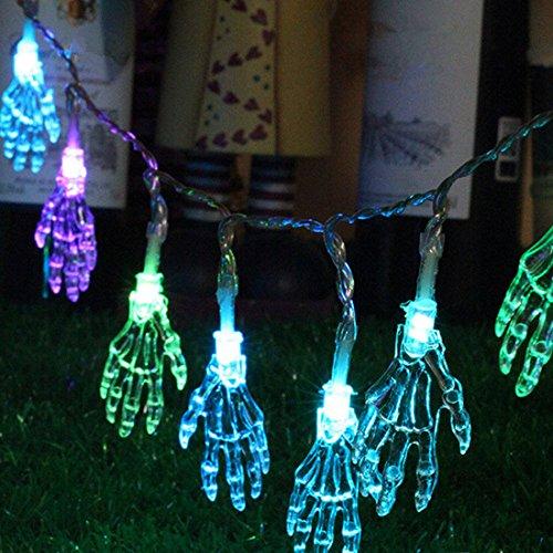 Halloween Decoration Skeleton Hand Lights 10 LED Ghost Sting Lights for Holiday Decoration Indoor String Lights Home Decoration