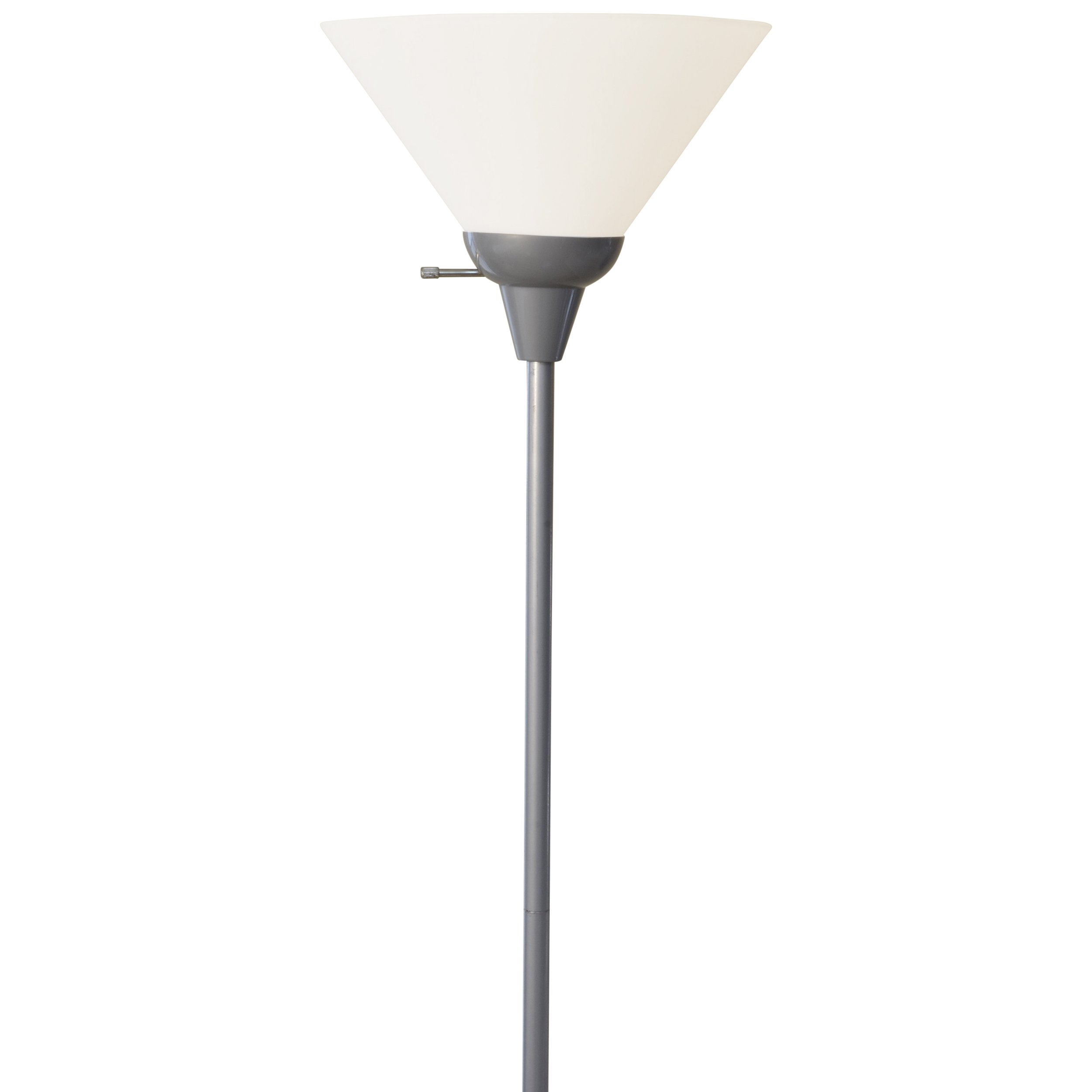 Light Accents Floor Lamp 72'' Tall Silver with White Shade