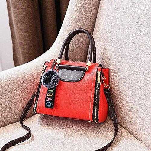 0bf70974b8d Aoligei Sac femme couleur mode sac version coréenne cheveux boule unique épaule  sac de messager E