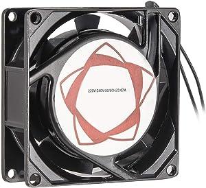 uxcell Cooling Fan 80mm x 80mm x 25mm SF8025AT AC 220V-240V 0.07A Dual Ball Bearings