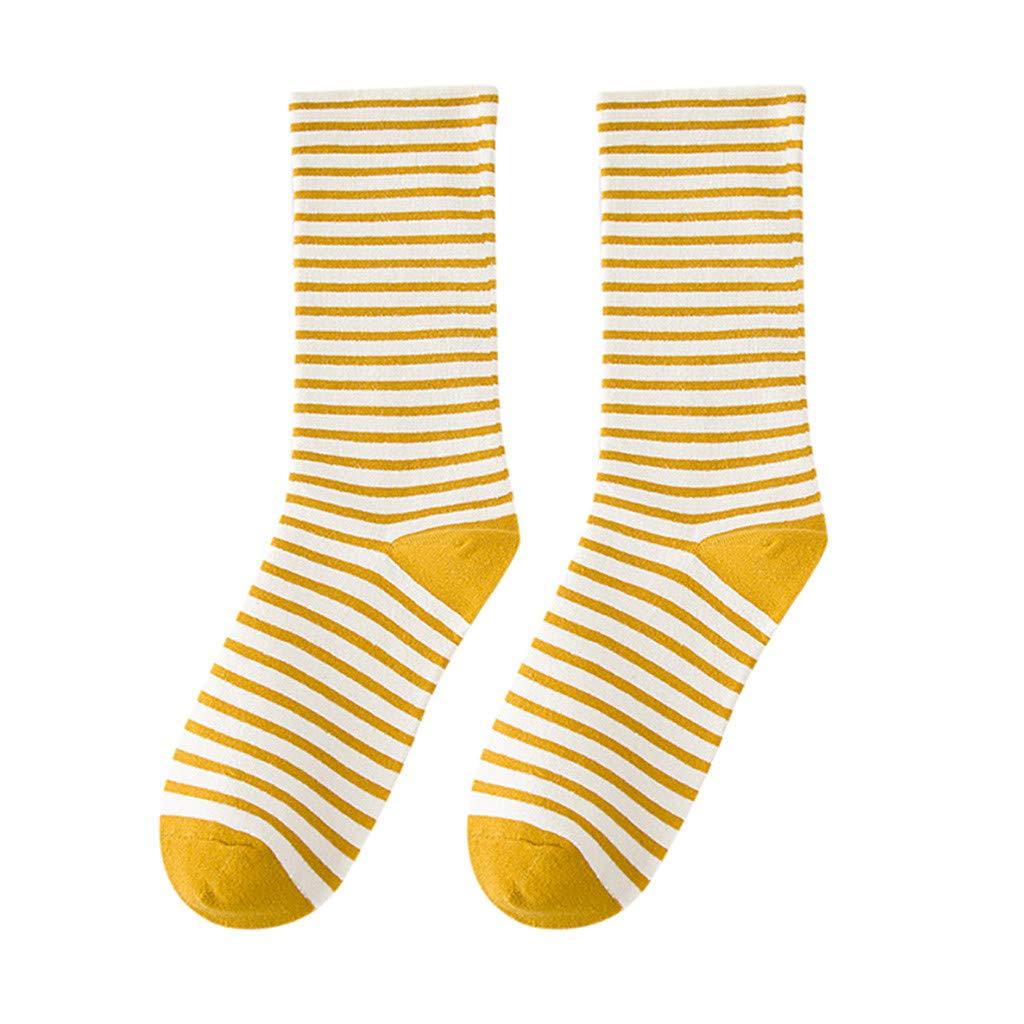 Skater Socks Retro Mid Calf Stripe Crew Socks Tube Premium Quality Cotton Socks Soccer Socks