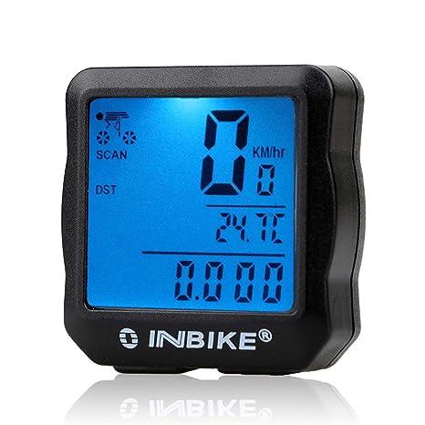 HONZIRY INBIKE Odómetro de Bicicleta con Cable Retroiluminación a ...