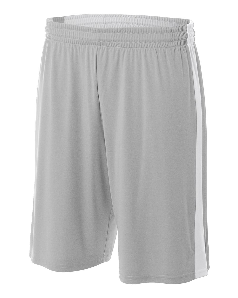 Reversible Silver/White Youth Small 8'' Uniform Jersey Shorts