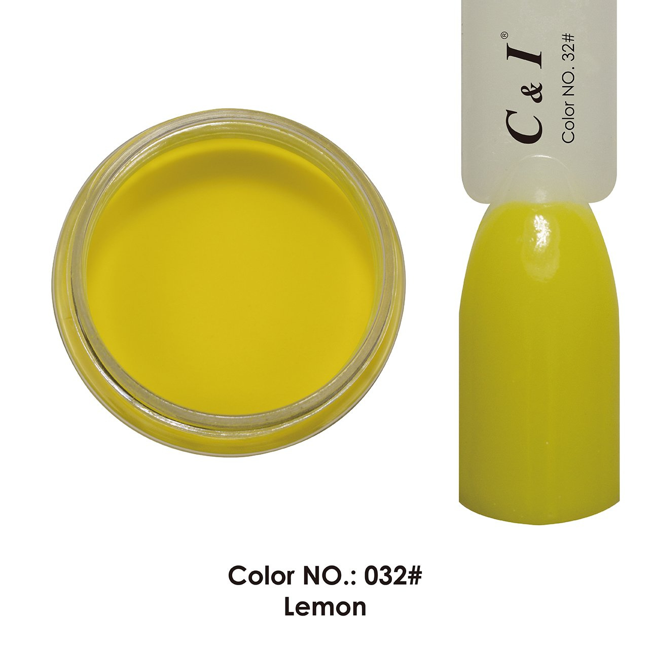 C & I Dipping Powder Color No.032 Lemon Yellow Color System Freyr Trading