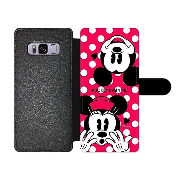 promo code 279d4 33b29 Amazon.com: GSPSTORE Samsung Galaxy S8 Wallet Case,Disney Mickey ...