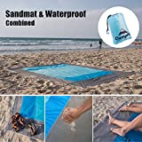 PREMIUM Outdoor Beach Blanket Sand Free/Picnic Blanket Waterproof And Sand Mat Combined - large Sand Proof, Fast Dry, Strong Nylon, 7.2' X 6.6', 4 Metal Stakes