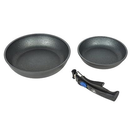 Lote 2 Sartenes 24/28 cm) en titanio - Laguiole: Amazon.es: Hogar