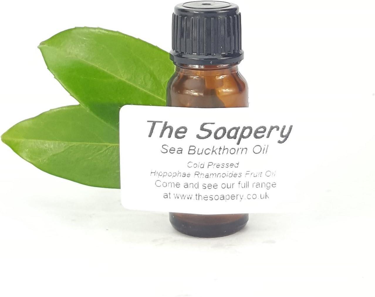Aceite de espino cerval de mar, 10 ml, prensado en frío, virgen, 100% puro y natural