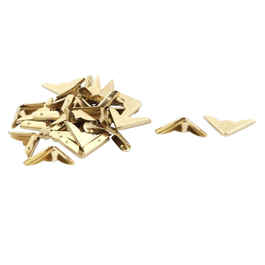 sourcingmap Metallo per uso domestico in stile vintage Album Angolo libro della protezione coperchio tono oro 30pcs a17052400ux0837