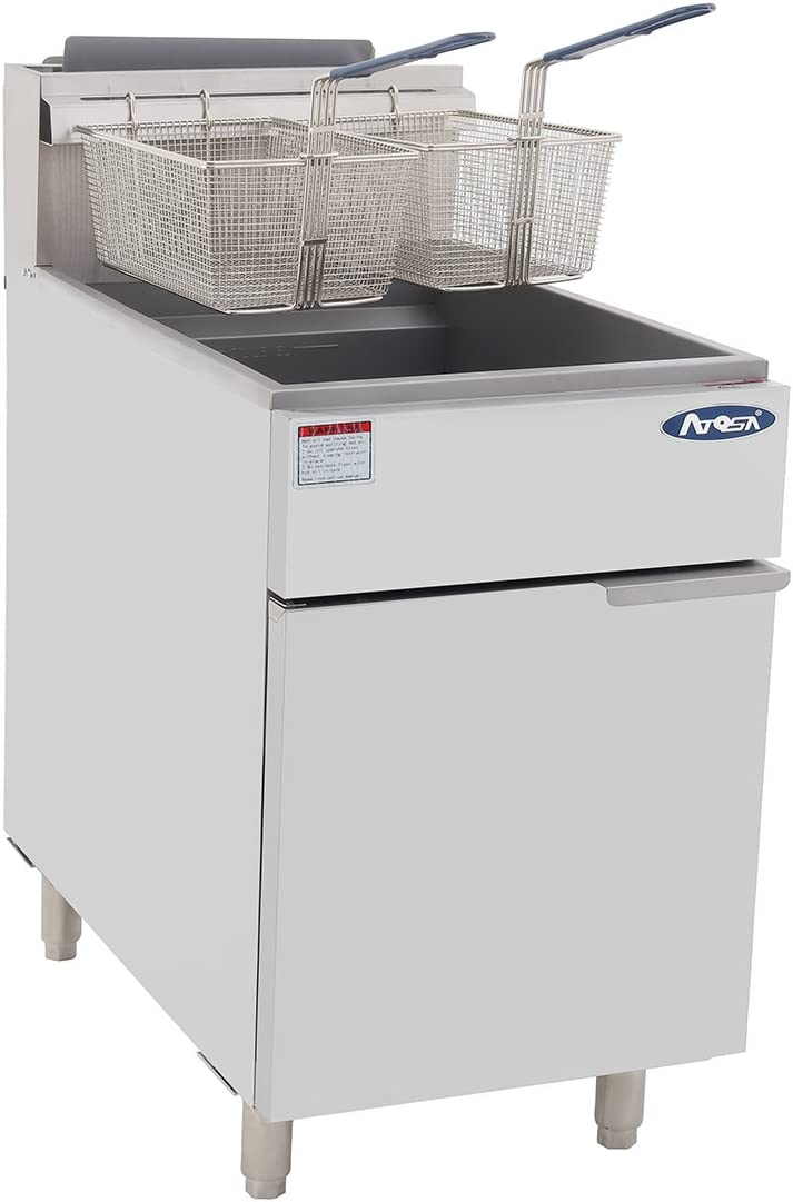 Atosa USA Atosa ATFS-75 Heavy Duty 75 LB Deep Fryer, Split Pot