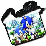 MovieWallscrolls Sonic the Hedgehog Video Game Stylish Laptop Messenger Bag (15 x 11) Inches [MB] Sonic Hedgeghog- 15
