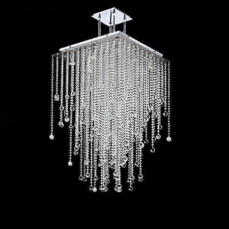 Tatosun LED GU10 LáMpara Colgante De Cristal 46 × 46 ...