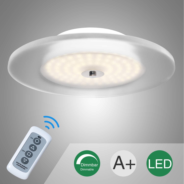 Sunllipe 18W LED plafoniera regolabile con telecomando, regolabile in luminosità, 2700-3000K Lampada da soffitto bianca calda per soggiorno, corridoio, camera da letto, cucina, corridoio [Classe di efficienza energetica A++]