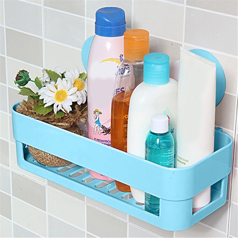 Amazon.com : Home Bathroom Plastic Shower Storage Rack Shampoo ...
