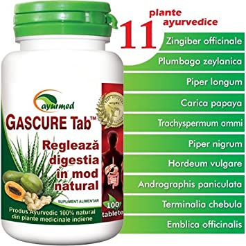 Amazon.com: gascure, 100 tabletas, ayurmed: Health ...