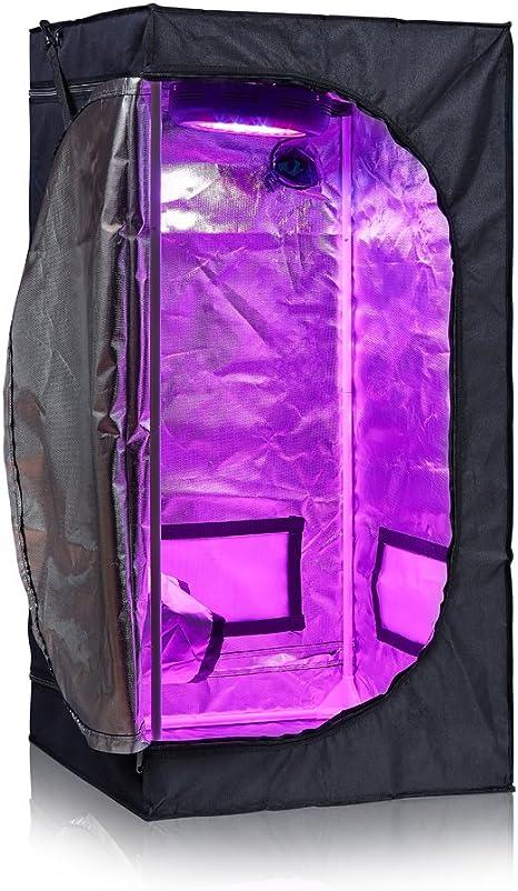 BloomGrow 24x24x48 Hydroponic Indoor Grow Tent w//Waterproof Floor Tray for Indoor Planting Growing 2x2