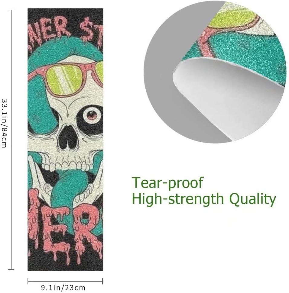 "B07Z4RQNCN UHOO Skateboard Griptape,Sketch of Spaceman Grabbing a Star Achivement Discovery Zero Gravity 1 pcs, 9\"" x 33\"", 84cm x 23cm, Anti Slip Bubble Free Waterproof Grip Tape Sheet, Sandpaper for Skateboard 61Y9EvwmySL"