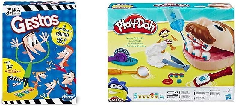 Hasbro Gaming Gestos (Versión Española) (B0638105) + Play-Doh PDH Core Dentista Bromista, Multicolor, 1 (Hasbro B5520EU4): Amazon.es: Juguetes y juegos