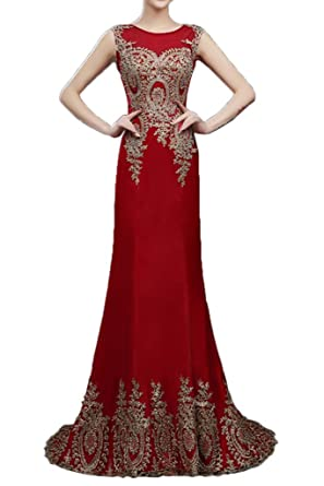 Gorgeous Bride Long Trailing Prom Gown Glamorous Party Dress-UK Size 6-Red