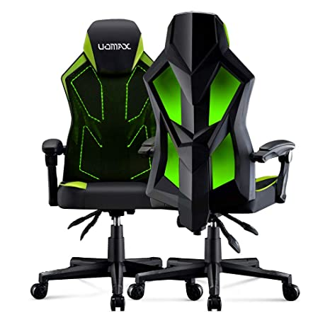 Awe Inspiring Uomax Gaming Chair Reclining Racing Chair With Led Lights Ergonomic Computer Chair With Lumbar Support Adjustable Pc Gamer Chair With Mesh Ncnpc Chair Design For Home Ncnpcorg