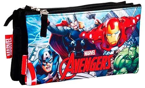 Avengers Assemble Estuche portatodo triple escolar: Amazon ...