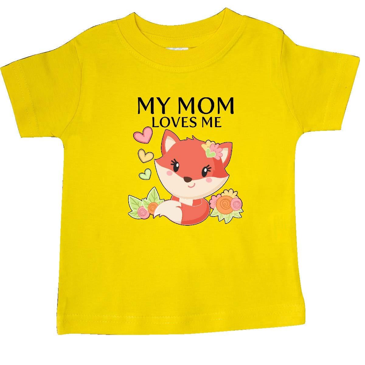 Little Fox Baby T-Shirt inktastic My Mom Loves Me