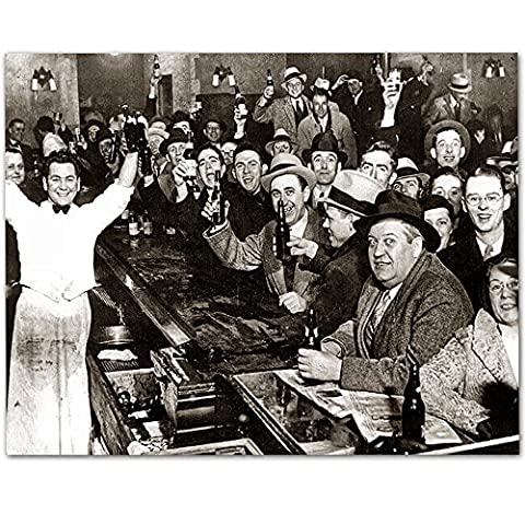 The Night Prohibition Ended - 11x14 Unframed Art Print - Great Man Cave and Bar Decor