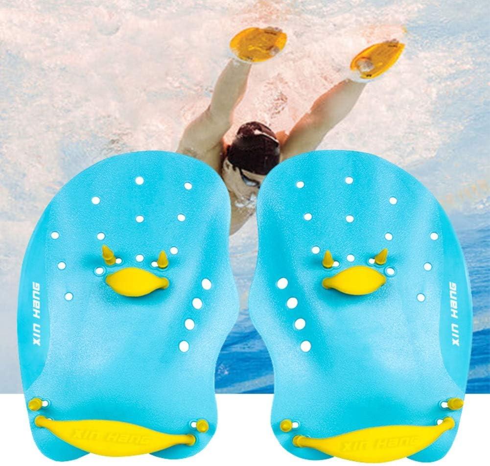 Aesy Adulte Enfants De Natation Pagaies Snorkeling pour la Natation Surf Styles De Nage R/églable Natation Pratique Correction Main Gants Style Chauve-Souris Plong/ée