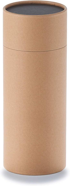 Caja de cartón redonda de betubed, caja de regalo, color: Craft Diámetro 86 mm, altura 215 mm, libre de plástico y sostenible.: Amazon.es: Oficina y papelería