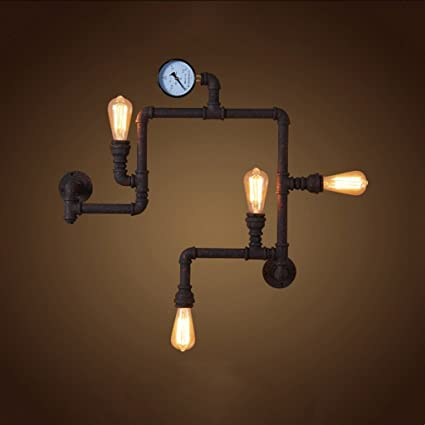 Amazon.com: CGJDZMD Wall Sconce Vintage Steampunk Pipe Wall Light 4 ...