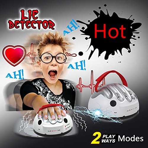 Upgrade Micro Electric Shocking Lie Detector, Funtoy Tricky Novelty Polygraph Test Truth Or Dare Game Party Analyzer Consoles Gifts